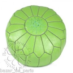 "Poufs For Sale Magnificent Moroccan Pouf Kelly Green On Onekingslane 20""dia X 12""h Review"