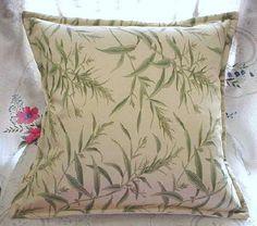 "PERENNIAL FLORAL - Pair Custom Made Pillow Shams  - Ralph Lauren Fabric - 16"" x 16"" Square / STRIPE Back"