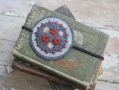 fabulous embroidered felt headband