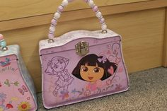Dora Tin Lunch Box/Purse- New- Girls- pink- school- Friends -