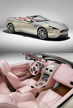 Aston Martin 'Q' Limited Edition Customised Beautifully For The Billionairess Who Loves All Things Luxe & Pink -ShazB.W