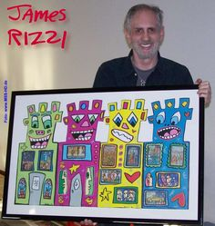James Rizzi silly buildings for 2nd grade urban/suburban/rural cross-curricular connection