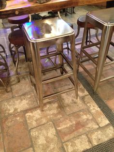 Why are bar stools SO difficult to find?! These were cheap-ish and clean. Wish they had a back but could easily put a basic cushion on them. Of course, they had two and we need three.
