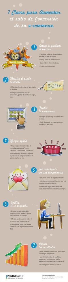 7 claves para aumentar el ratio de conversión de su e-commerce #infografia