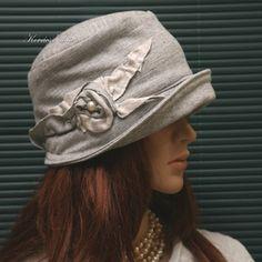 MARIE cloche - pamut-jersey flapper kalap (brokat 48da23ee5e