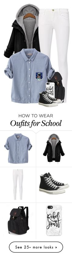 Didn't think of the collared shirt w/sweater. Outfits With Converse, Tomboy Outfits, Basic Outfits, Fall Outfits, Casual Outfits, Cute Outfits, Fashion Outfits, Womens Fashion, Outing Outfit