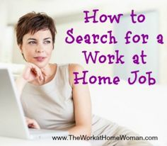 How to Search for a Work at Home Job