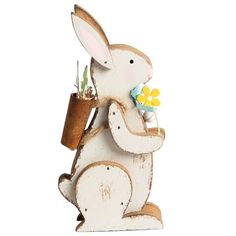 Sass belle bunny bookends sass belle from mollie fred uk freestanding shabby chic retro wooden easter bunny with flowers decoration negle Gallery