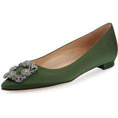 manolo blahnik suede green loafers