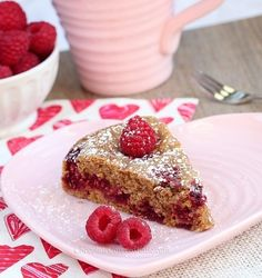 Raspberry Vanilla Coffee Cake    Fans of light, airy and fruity cakes should enjoy this vegan and vegetarian-friendly recipe for raspberry vanilla cake. This is perfect to serve with a cup of coffee or tea in the afternoon.