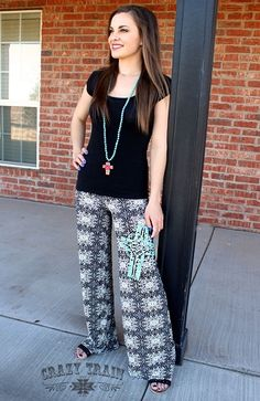 Find these fabulous palazzo pants on the Ranch and Famous Facebook page!