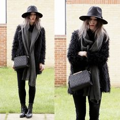 Get this look: http://lb.nu/look/8015050  More looks by Agata P: http://lb.nu/agatap  Items in this look:  Scarf, Hat, Primark Bag, Jeans , Jacket