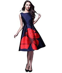Stunning Blue, frock styled kurti is lengthened till knees, worn with Red Flower contrast. For More Details : Frock Style Kurti, Blue Frock, Amazon Clothes, Plus Size Cocktail Dresses, Fashion Company, Red Flowers, Silk Satin, Flare Dress, Frocks