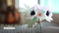 How to make paperflowers(crepe paper) #2. Anemone : so easy and simple