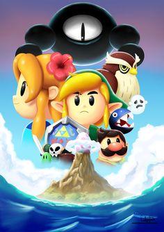 Links awakening (Nintendo Competition Entry) by on DeviantArt The Legend Of Zelda, Legend Of Zelda Breath, Cry Anime, Anime Art, Nintendo World, Nintendo 3ds, Nintendo Switch, Girls Anime, Manga Girl