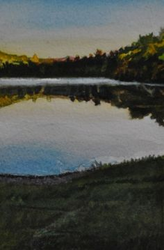 2012 Lakeside View, painting by artist Andy Smith