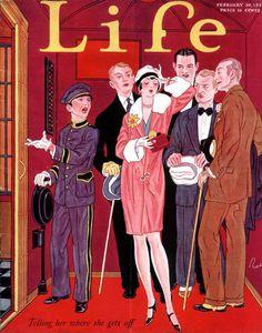 Life Magazine Cover Illustration by John Held, Jr. Vintage Vogue, Vintage Ads, Vintage Posters, Vintage Stuff, Vintage Advertisements, Old Magazines, Vintage Magazines, Life Magazine, Magazine Art