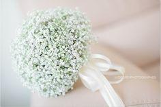 A gypsophila wedding bouquet.