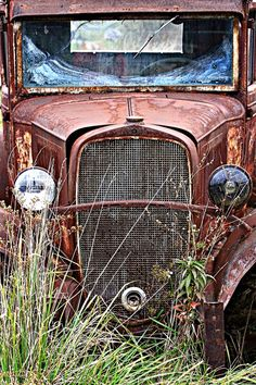 old truck…. worn… rusted… corroded… tarnished and beautiful…just like my favorite pair of jeans...