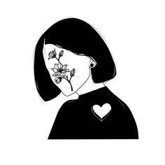 Tattoos - Where is my heart? Emo Anime Girl, Cactus Drawing, Dark Art Drawings, Aesthetic Drawing, Stencil Art, Picture Design, Art Sketchbook, White Art, Erotic Art