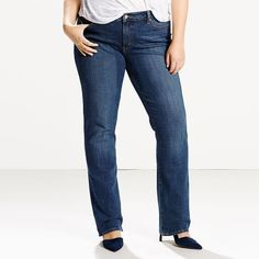 Plus Size Levi's 414 Relaxed Fit Straight-Leg Jeans, Women's, Size: