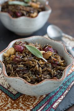 Wild Rice with Roasted Grapes & Walnuts | oh my veggies