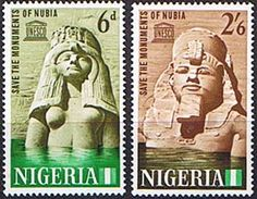 Nigeria 1964 SG 145 - 6 Nubian Monuments Set Fine Mint SG 145 6 Scott 157 8 Other Commonwealth Stamps Here