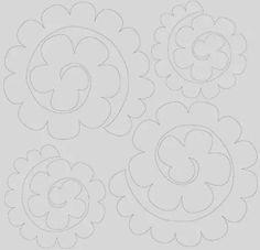 fiori di feltro cartamodello - Cerca con Google