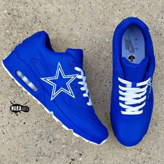 Dallas Cowboys Tattoo, Dallas Cowboys Shoes, Dallas Cowboys Football, Design Nike Shoes, Nike Air Shoes, Shoes Sneakers, Cowboy Shoes, Cowboy Outfits, Cheap Nike Air Max