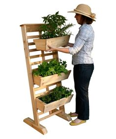 GRO Products Vertical GRO System with Casters and 3 Planter Boxes - Raised Bed & Container Gardening at Hayneedle