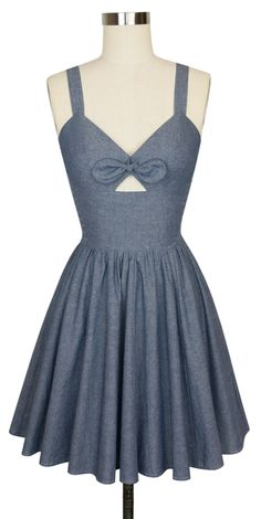 The Trashy Diva Hottie Mini Dress in Blue Chambray!