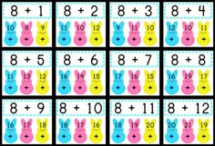 Fun FREEBIE to practice addition facts during the spring seasons - facts 1-12!