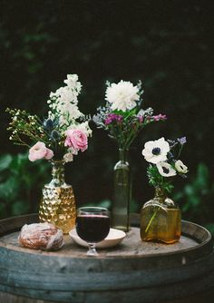Creative industrial wedding | Photos by Emily Blake | 100 Layer--barrel communion table
