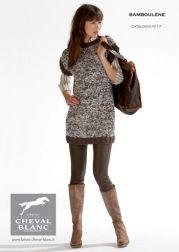 Modèle de tricot - Pull n°07 - Catalogue Cheval Blanc n°17 - Laine utilisée : BAMBOULENE