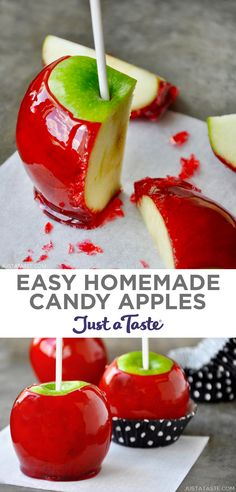 Halloween Desserts, Hallowen Food, Halloween Food For Party, Halloween Candy Apples, Fall Candy, Apple Recipes Easy, Fun Baking Recipes, Sweet Recipes, Fall Dessert Recipes