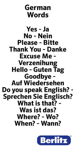 Want to learn German, but don't know where to start? Here's a list of the top 25 German verbs and their English equivalents. Language Logo, Language Quotes, Dual Language, German Language Learning, Learn A New Language, Spanish Language, French Language, German Grammar, German Words