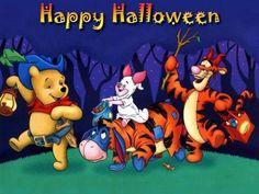 pooh and friends happy halloween Winnie The Pooh Halloween, Tigger Winnie The Pooh, Bear Halloween, Halloween Queen, Winnie The Pooh Friends, Halloween Cartoons, Halloween Books, Halloween Images, Happy Halloween