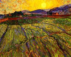 Van Gogh - Enclosed Field with Rising Sun