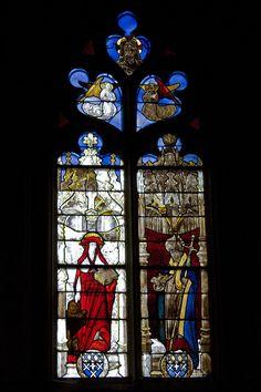 Église Saint-Martin (Prieuré d'Ambierle)-Saint Jérôme-Saint Amboise - Category:Stained glass windows of Église Saint-Martin, Ambierle — Wikimedia Commons