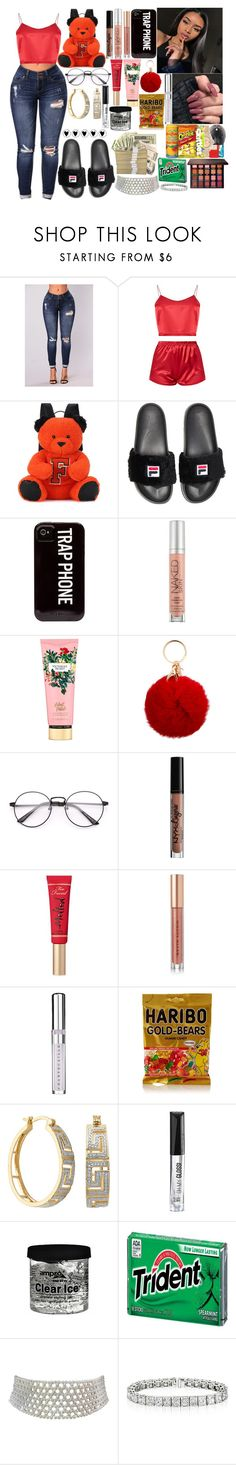 """""""🥧"""" by slaybxby ❤ liked on Polyvore featuring Puma, Baja East, Urban Decay, Victoria's Secret, NYX, Too Faced Cosmetics, Kevyn Aucoin, Chantecaille, Rimmel and Marina J."""