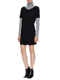 Flowing Dress with Leather Band Embellishment from Fall Essentials: Sweater Dresses & More on Gilt