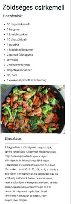 Diéta Fitt, Good Food, Yummy Food, Cooking Recipes, Healthy Recipes, Hungarian Recipes, Healthy Juices, Health Eating, Light Recipes