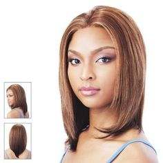 HH Lace FIRST LADY - Diana Bohemian 100% Human Hair Lace Front Wig #1B/30 by Diana Bohemian. $159.99