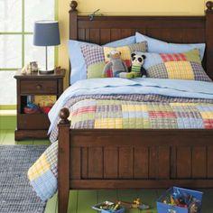 Kids' Bedding: Boys' Multi Colored Patchwork Plaid Bedding in Boy Bedding Boy Toddler Bedroom, Big Boy Bedrooms, Kids Bedroom, Kids Rooms, Bedroom Ideas, Play Rooms, Plaid Bedding, Boy Bedding, Bedding Inspiration