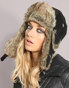 Bomber Faux Fur Trapper Hat