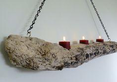 Hanging Driftwood Candleholder by PalmTreeSoda on Etsy, $23.00