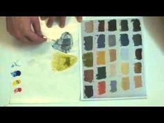 William Gelvin Art Lesson color theory and color matching exercise - YouTube