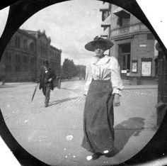 Karl Johan Street, Oslo 1890s - street photography by Størmer