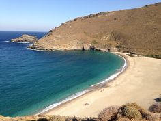 Achla beach Andros Island Greece Beautiful Islands, Beautiful Places, Sandy Beaches, Greece, Landscape, Country, Water, Summer, Magic