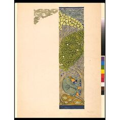 Wallpaper design - The Minstrel, C.F.A. Voysey, Late 19th Century